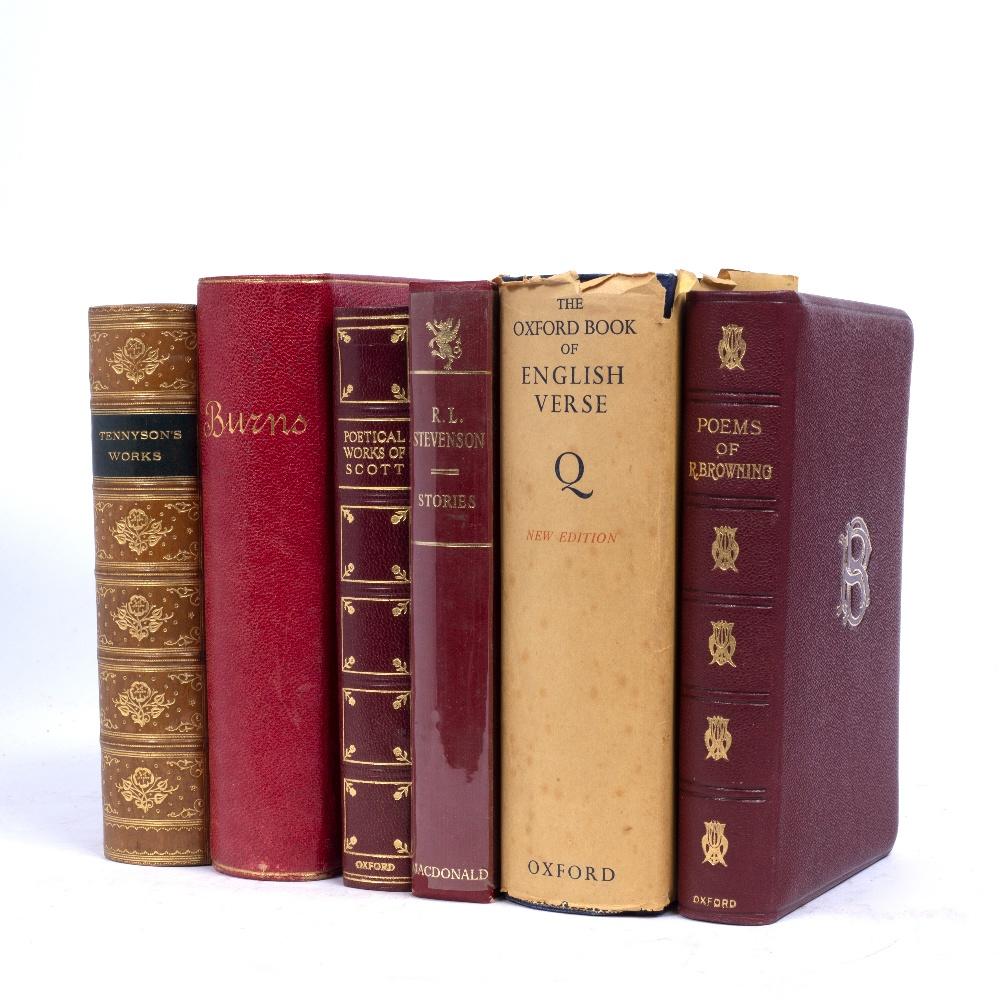 TENNYSON, Alfred, Lord, 'The Works', Macmillan, London 1902. Fine tree calf binding plus 5 further