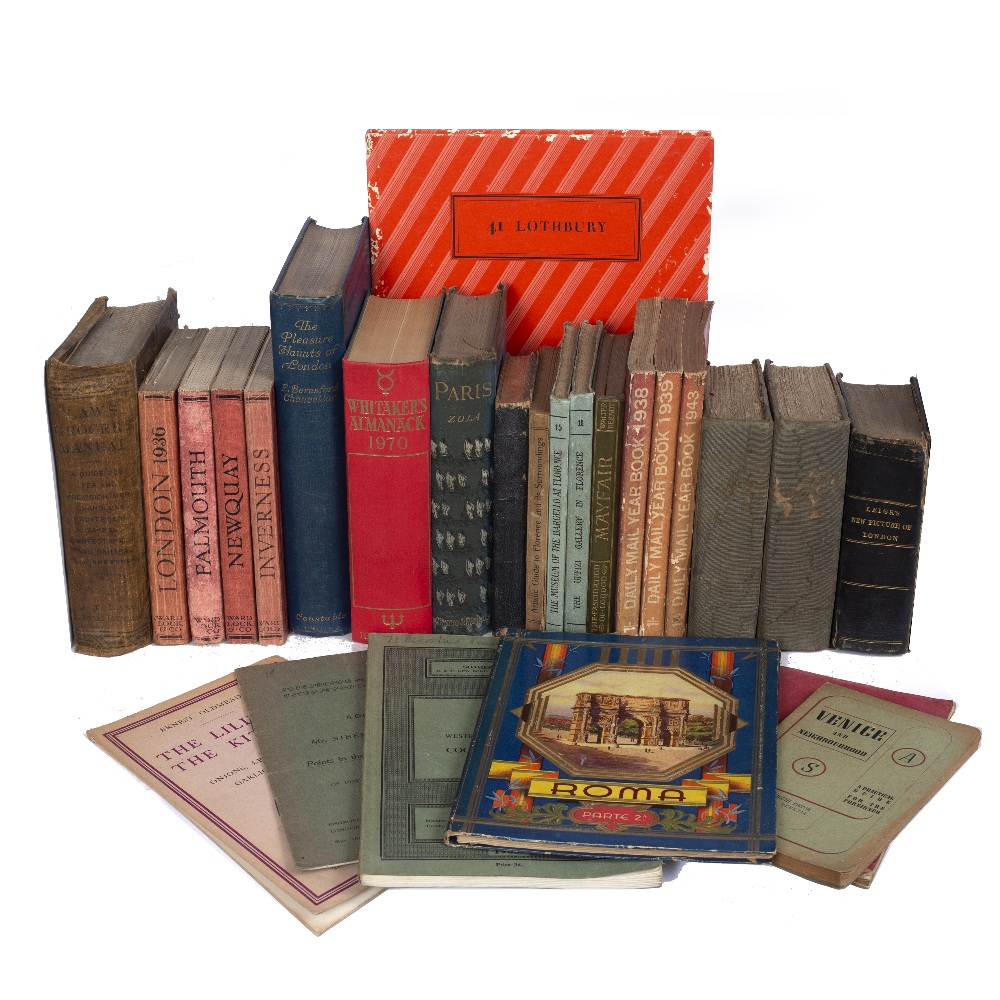TRAVEL: An assortment of old guide books and other reference books various inc. Leigh's New