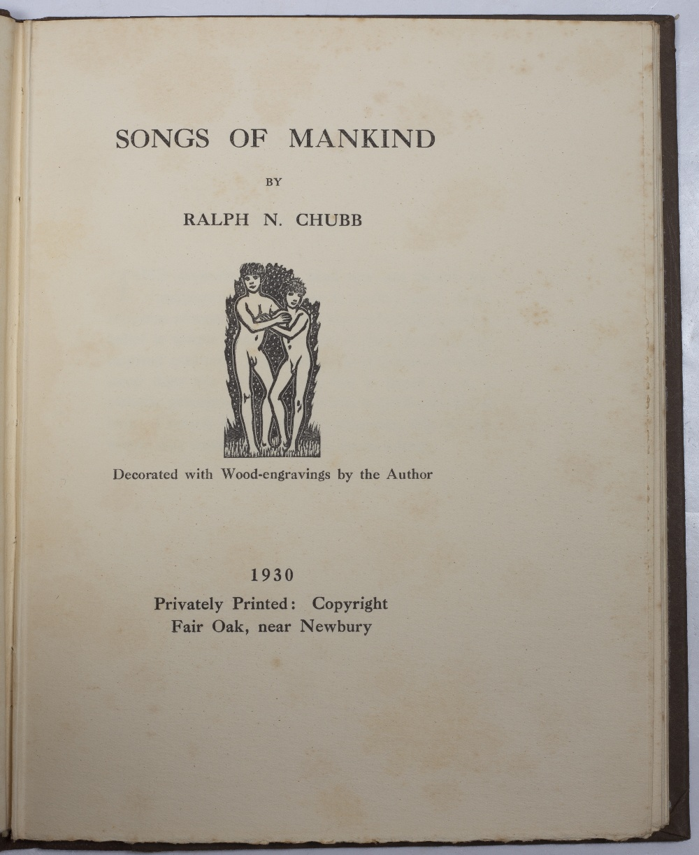 CHUBB, Ralph Nicholas (1892-1960), English Poet and Printer Songs of Mankind decorated with wood - Image 2 of 5