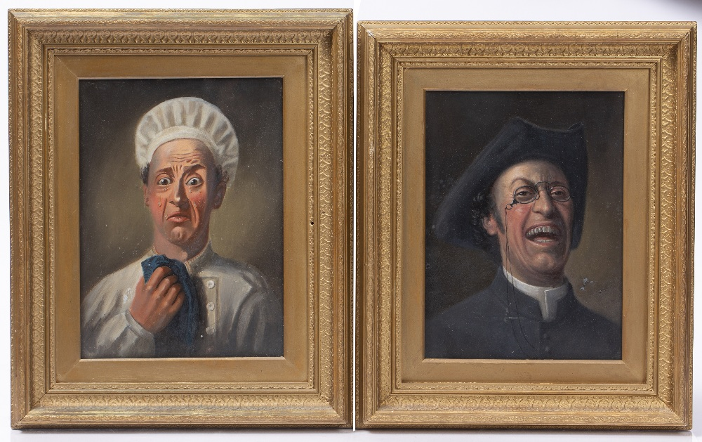 19TH CENTURY ENGLISH SCHOOL: The Jolly Vicar and The Upset Cook, a pair, oils on board, 29 x 21cm ( - Image 2 of 2