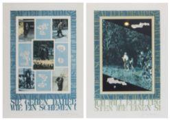 TOM PHILLIPS (b.1937) 'Ein Deutsches Requiem', a set of twelve lithographs based on Brahms' Opus 45,