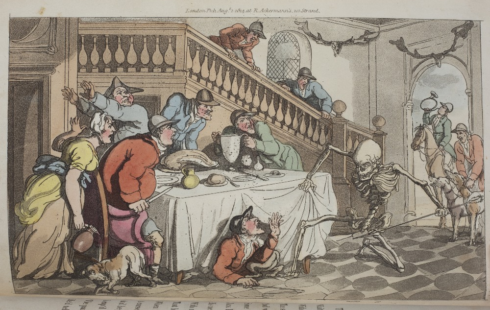 COOMBE, William and ROWLANDSON, Thomas, Illus. 'The English Dance of Death'. 2 Vols. Ackermann, - Image 5 of 5