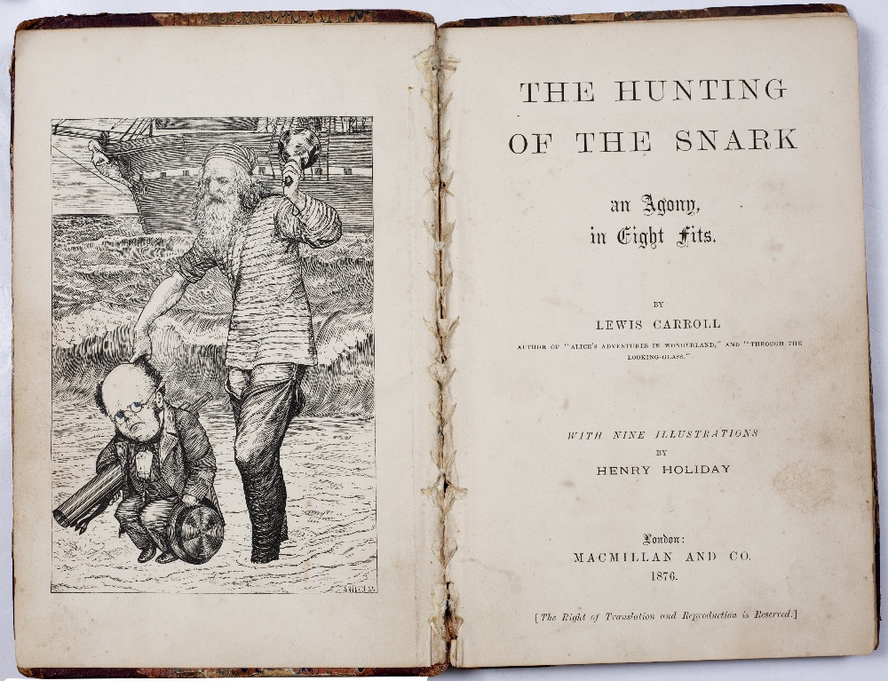 DODGSON, Charles Lutwidge (Lewis Carroll), 'The Hunting of the Snark, an Agony in Eight Fits'. 1st