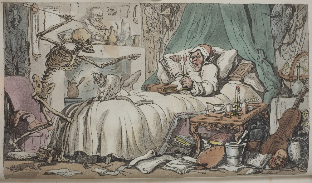 COOMBE, William and ROWLANDSON, Thomas, Illus. 'The English Dance of Death'. 2 Vols. Ackermann, - Image 4 of 5