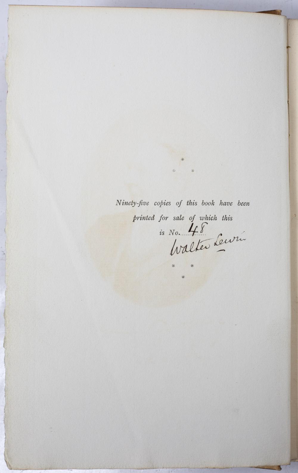 BEBINGTON, CHESHIRE INTEREST:- LEWIN, Walter, 'Clarke Aspinall, A Biography', Allen, London 1893. - Image 2 of 4