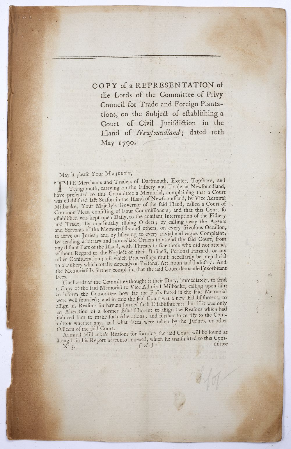 A GROUP OF 4 REPORTS:- Tortola (British Virgin Islands) Papers Relating to the Trial and Execution - Image 5 of 7