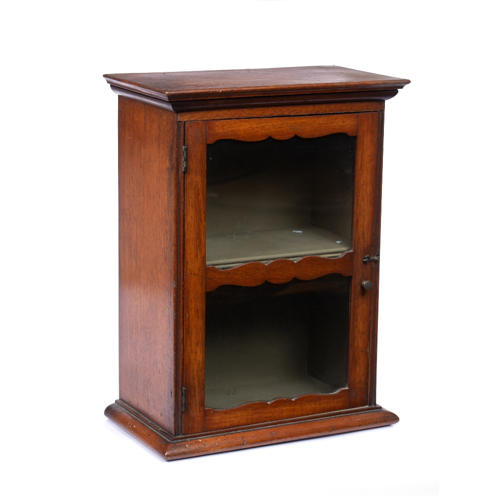 A LATE 19TH CENTURY MAHOGANY SMALL TABLE TOP DISPLAY CABINET, with glazed door enclosing a shelf, - Image 2 of 4