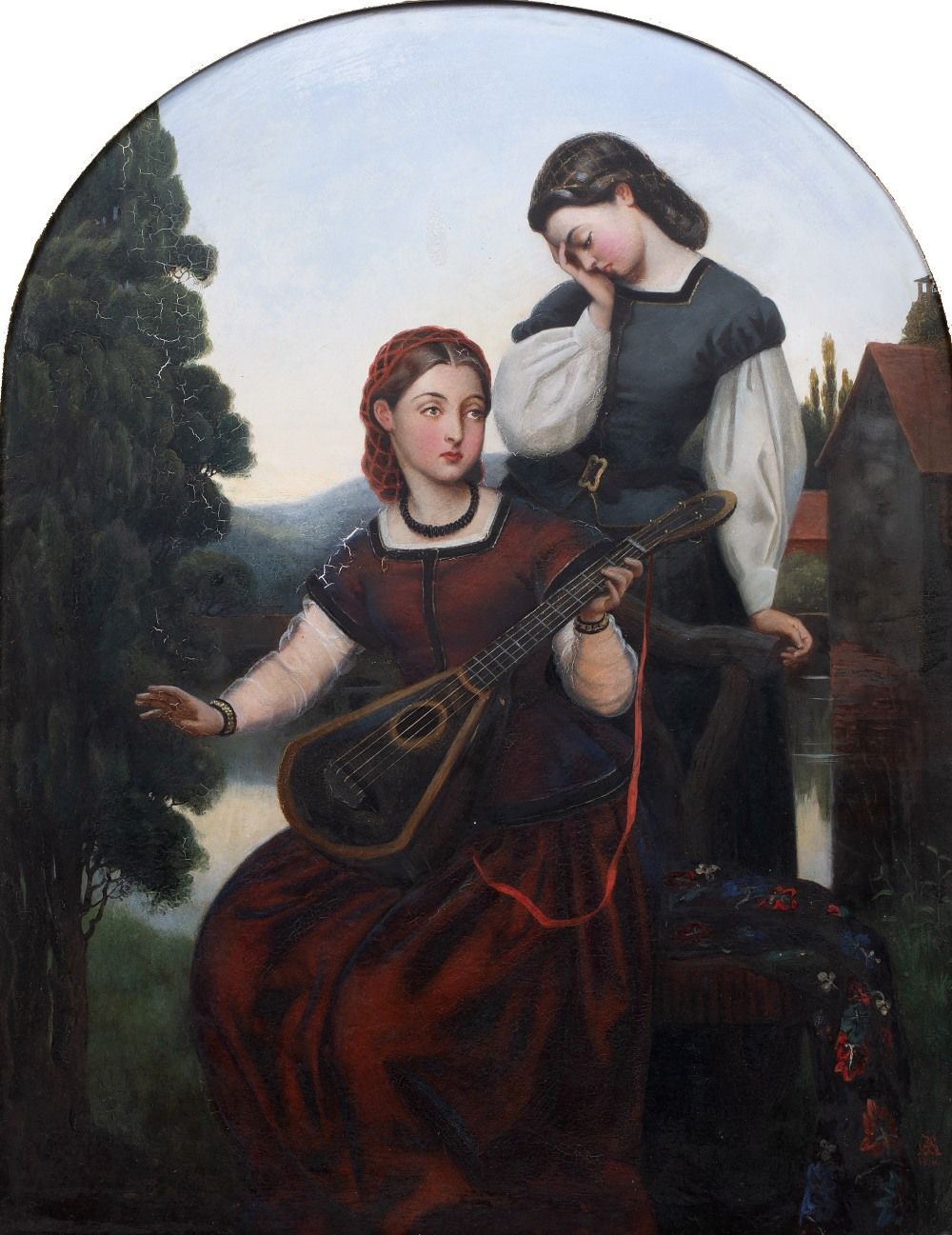 GEORGE ADOLPHUS STOREY (1834-1919) 'Song of the Past', signed with monogram and dated 1860, oil on