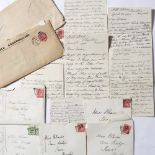 'BAKER' RHODES CORRESPONDENCE A group of thirteen m/s begging letters, six with stamped envelopes