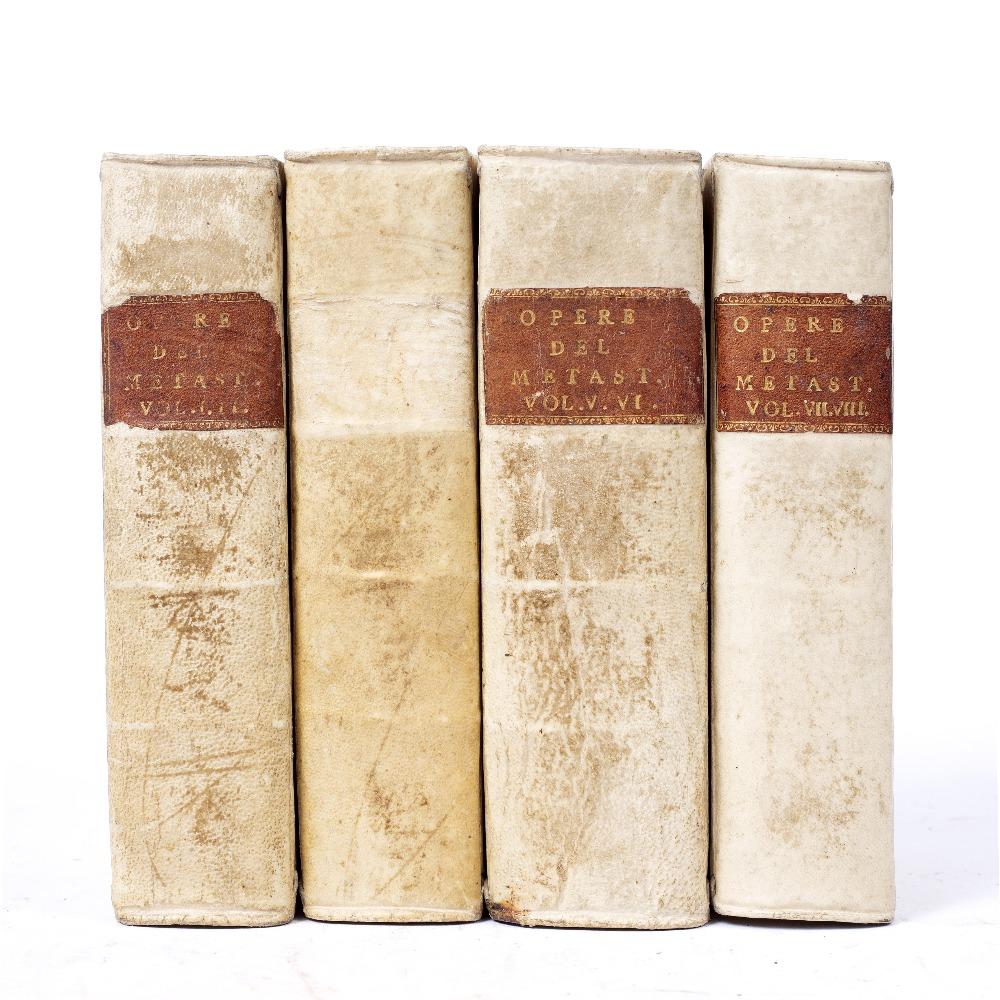 METASTASIO, Pietro (1698-1782), Italian Poet 'Opere Drammatiche, Oratori Sacri e Poesie Diverse'. - Image 3 of 3
