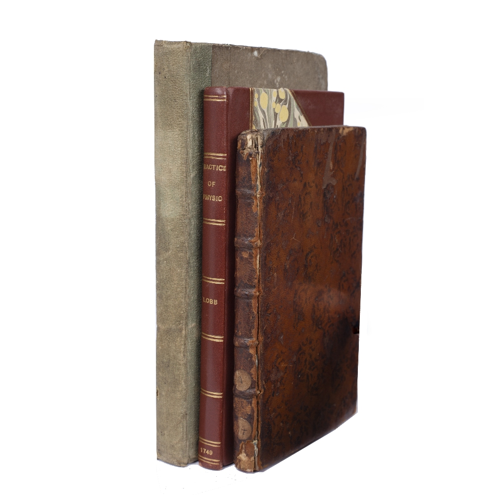 LOBB, Theophilus, A Compendium of the Practice of Physick. Buckland, London 1749. 80pp. rebound 1/