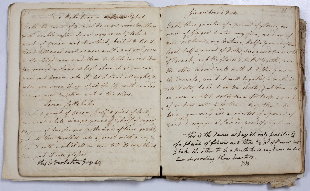 COOKERY INTEREST:- An 18th century m/s cookery book entitled 'The Entire Collection of Phoebe - Image 3 of 4