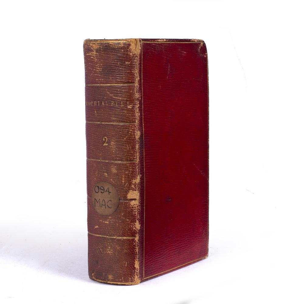 A 16TH CENTURY ITALIAN RENAISSANCE SMALL FORMAT TITLE:- Discorsi di Nicolo Machiavelli Fiorentino,