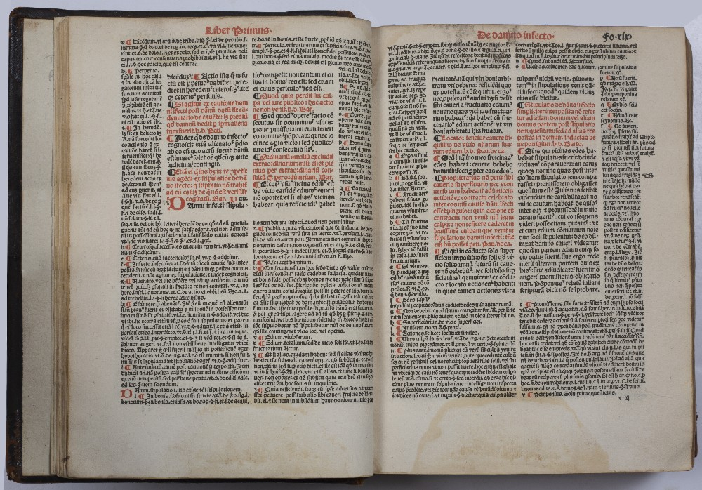 BOUCARD, ANDREAS (Ed.), Justinian, Digestorum Seu Pandectar, Joannis Petit, Paris 1525. 12 books - Image 5 of 5