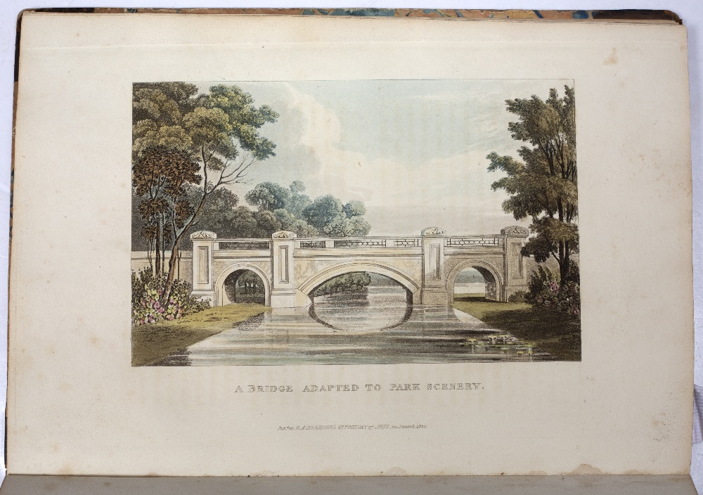 PAPWORTH, John Buonarotti, 'Hints on Ornamental Gardening' with numerous coloured plates. - Image 4 of 4