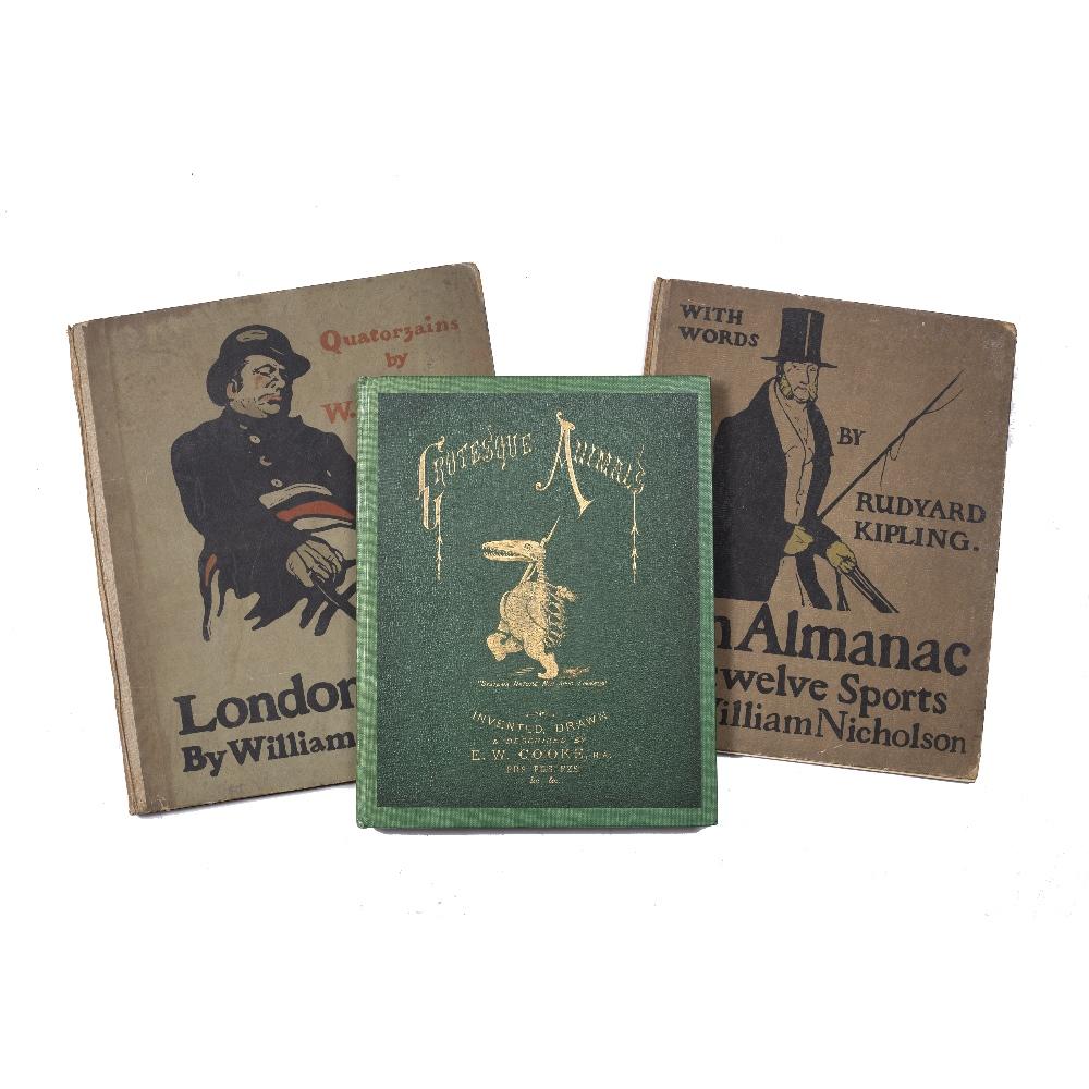 NICHOLSON, William, London Types. Quatorzains by W.E. Healey and An Almanac of Twelve Sports,