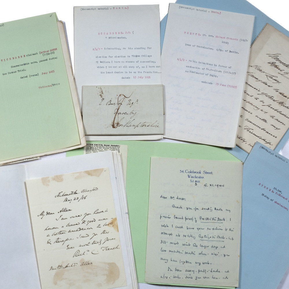 AN ECLECTIC COLLECTION OF 32 MANUSCRIPT LETTERS AND NOTES, predominately 19th Century senior