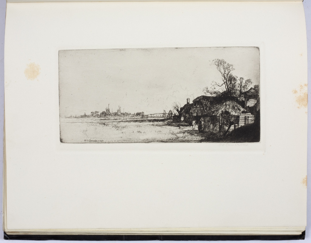 HIND, Arthur M, The Etchings of D.Y. Cameron, Halton & Truscott Smith, London 1924. 4to. Gilt tooled - Image 3 of 5