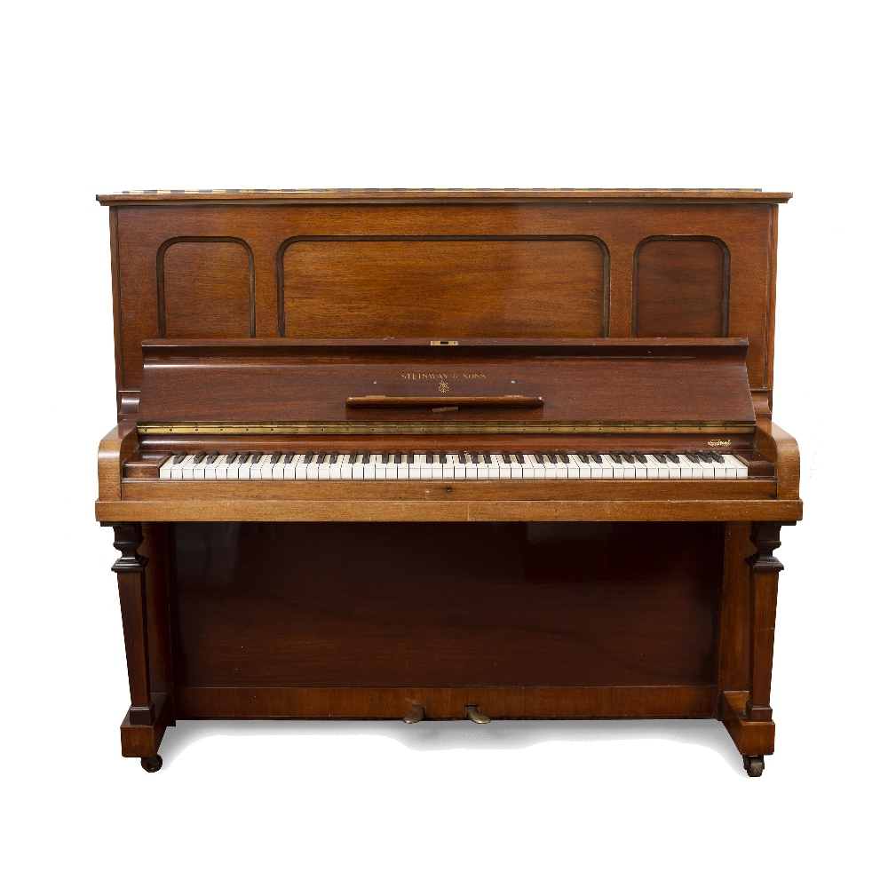 A STEINWAY & SONS ROSEWOOD UPRIGHT VERTEGRAND MODEL K PIANO, Serial no. 271709, (c.1931)155cm