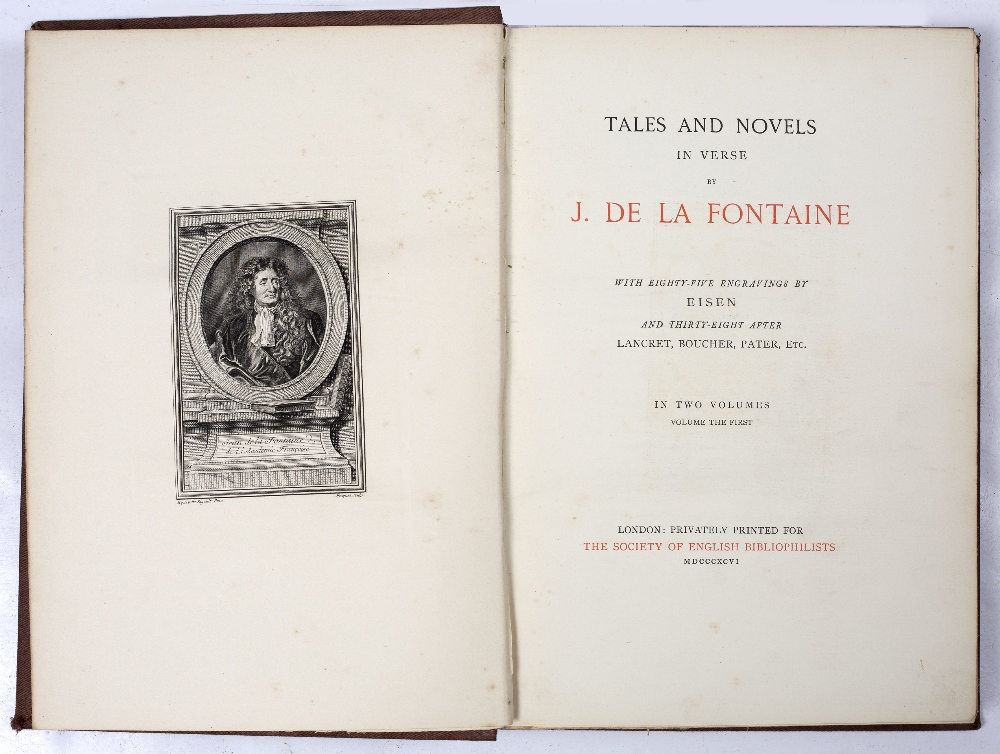 DE LA FONTAINE, Jean, Tales & Novels in Verse with 85 engravings by Eisen and 38 after Lancret, - Image 2 of 3