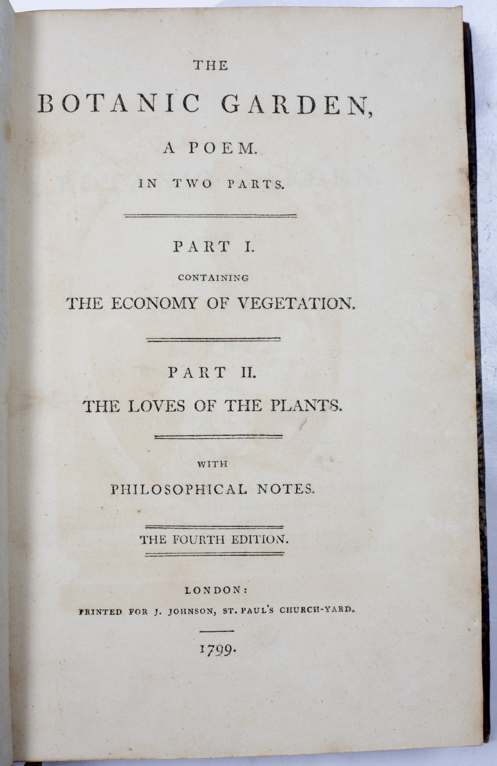 DARWIN, Erasmus (1731-1802), Philosopher and Physician 'The Botanic Garden' A Poem in Two Parts. - Image 6 of 7
