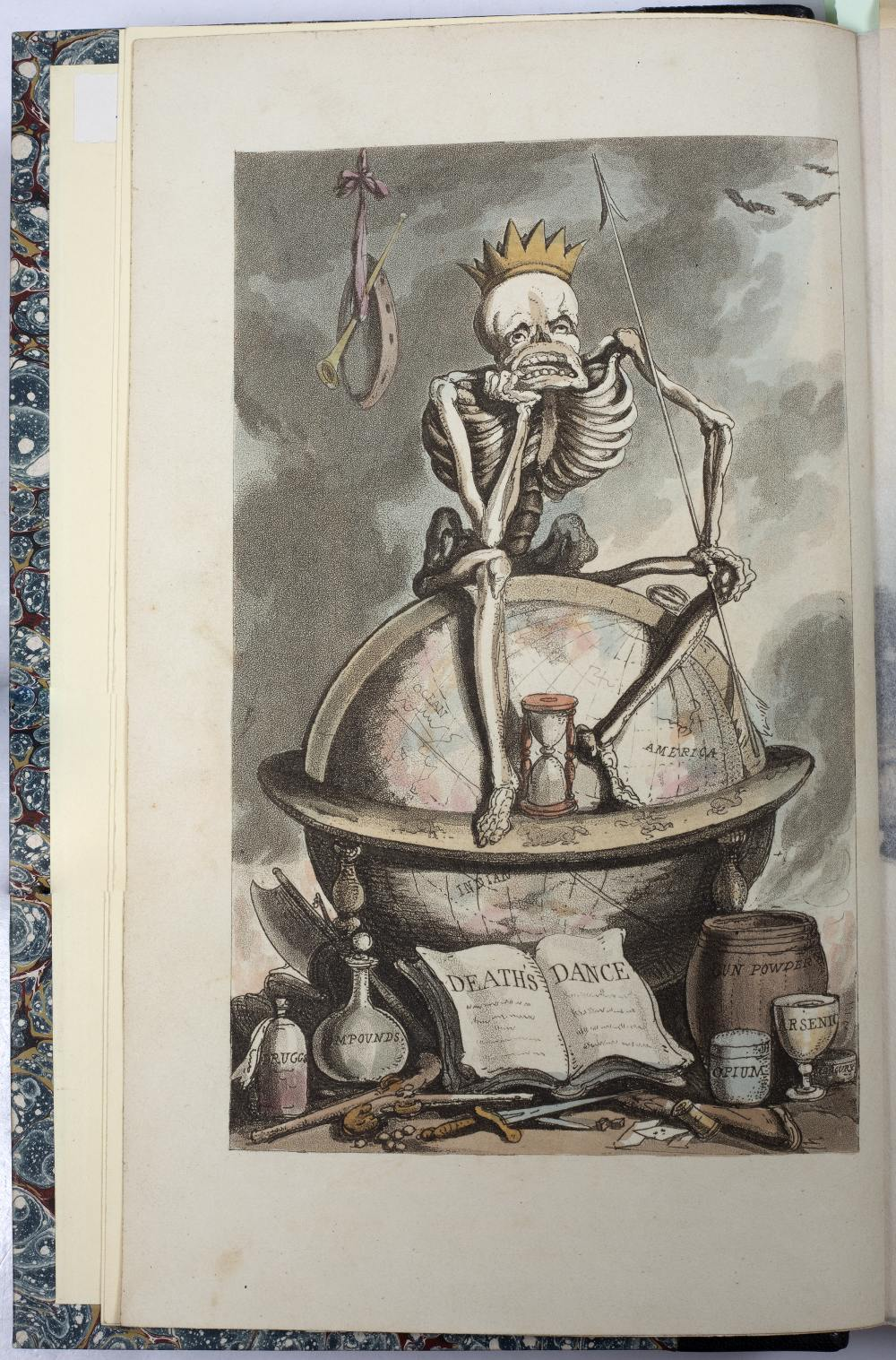 COOMBE, William and ROWLANDSON, Thomas, Illus. 'The English Dance of Death'. 2 Vols. Ackermann, - Image 2 of 5