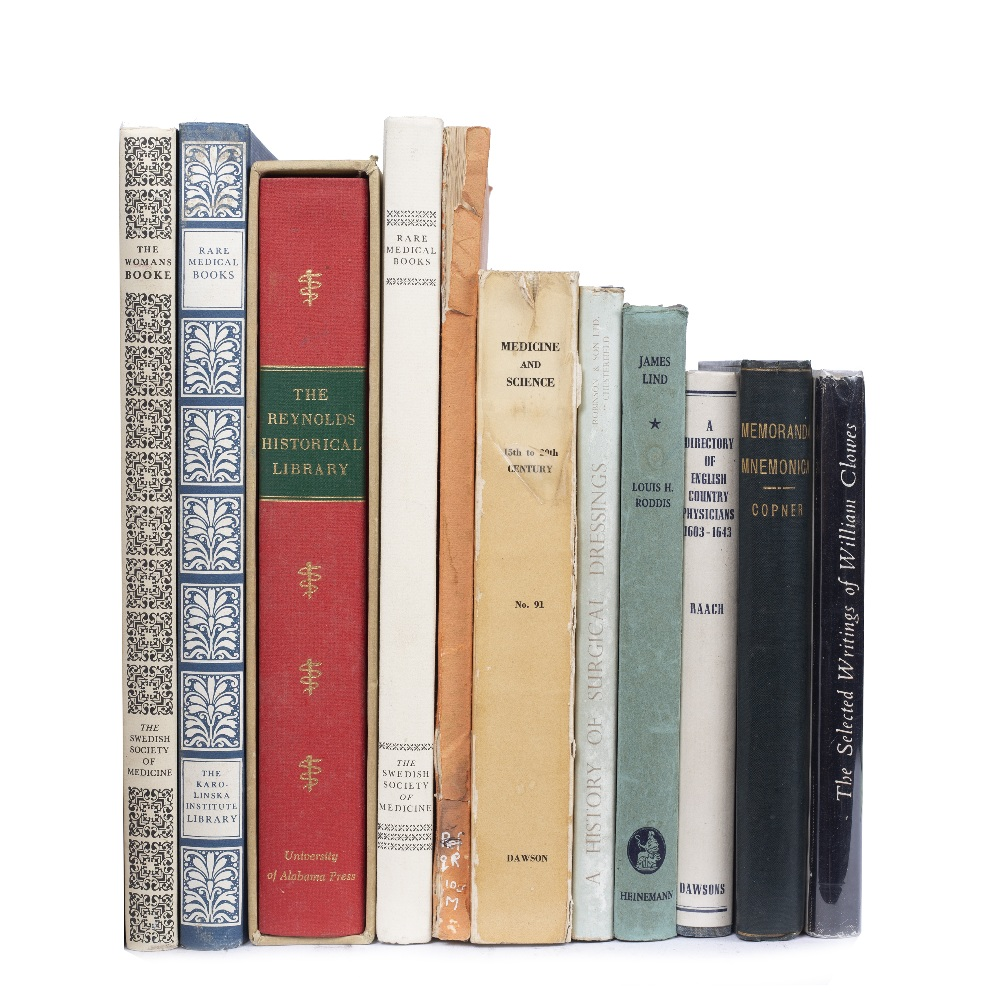 A GROUP OF 11 MEDICAL TITLES, catalogues, bibliography etc. (11)