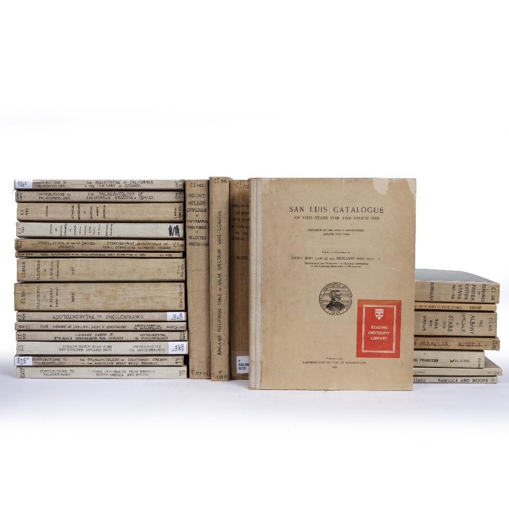 CARNEGIE INSTITUTE OF WASHINGTON PUBLICATIONS c1900-1950. 30 vols. Geology, Astronomy, Palaeontology