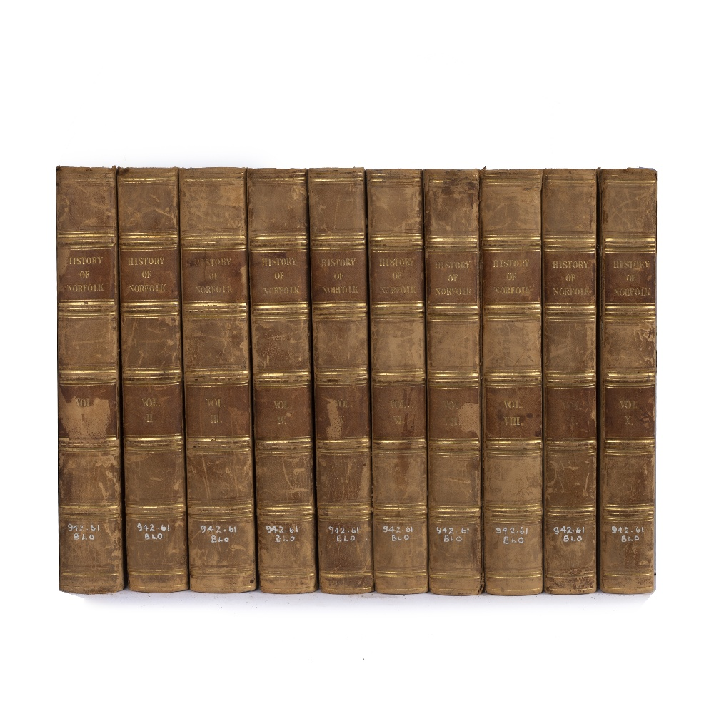 BLOMEFIELD, Francis, An Essay Towards a Topographical History of the County of Norfolk. 10 vols.