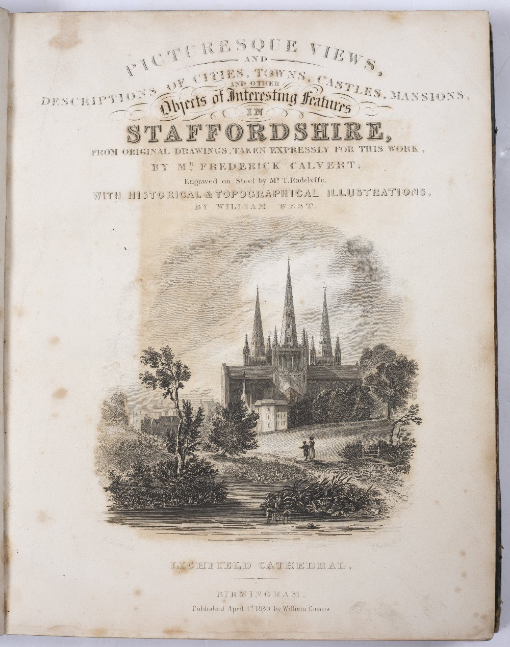 CALVERT, Frederick, illus. 'Picturesque Views and Descriptions of Cities, Towns, Castles, Mansions - Image 3 of 3
