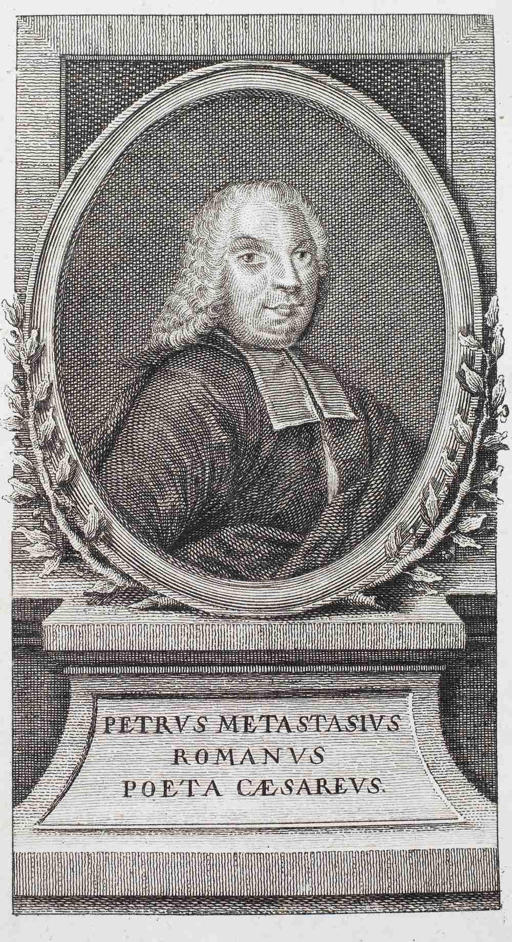 METASTASIO, Pietro (1698-1782), Italian Poet 'Opere Drammatiche, Oratori Sacri e Poesie Diverse'. - Image 2 of 3