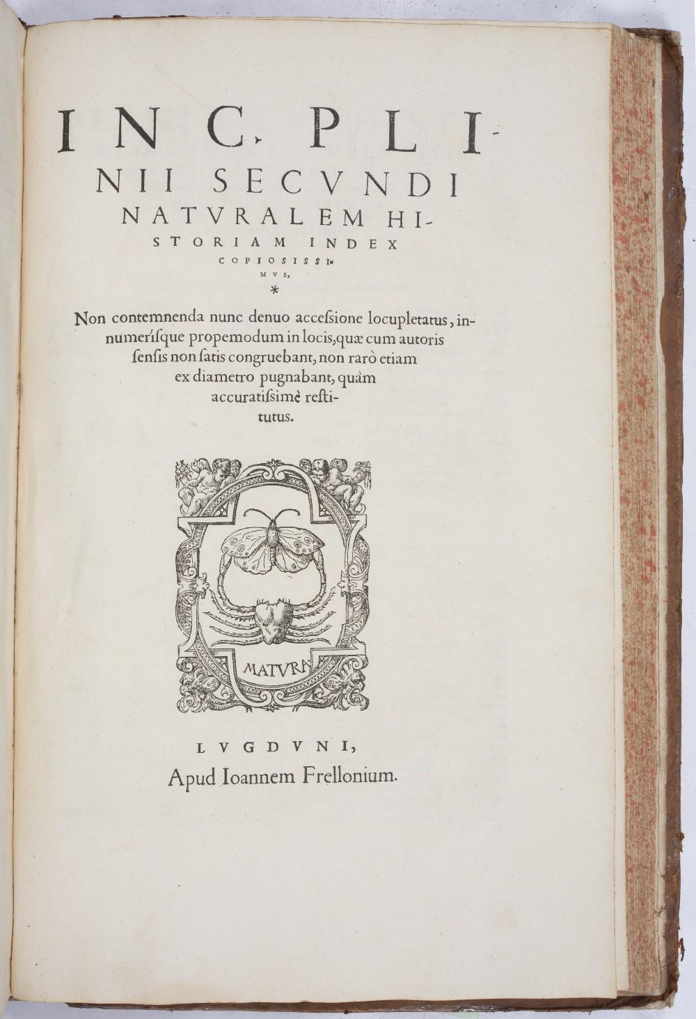 PLINY THE ELDER, Gaius Plinius Secundus, Historiae Mundi. Thirty seven books in one volume. 679pp. - Image 2 of 3