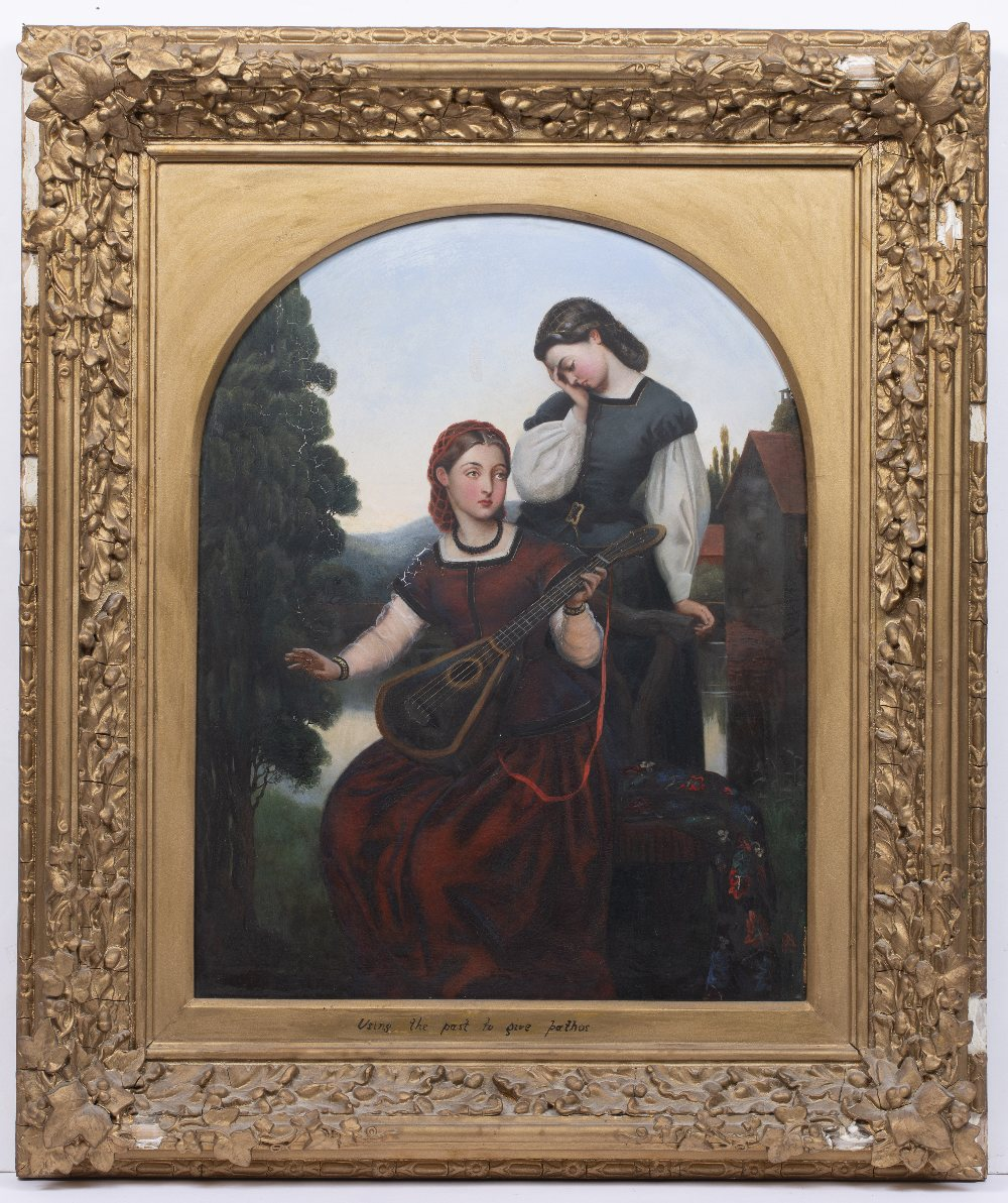 GEORGE ADOLPHUS STOREY (1834-1919) 'Song of the Past', signed with monogram and dated 1860, oil on - Image 2 of 3