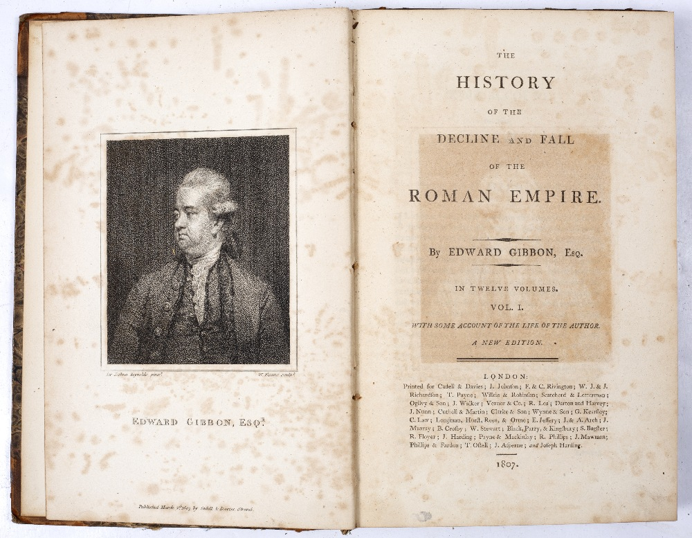 GIBBON, Edward, The History of the Decline and Fall of the Roman Empire. 12 vols. 8vo. (210 x