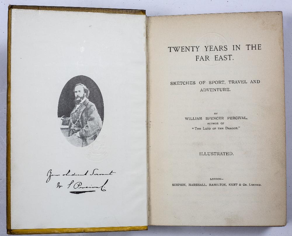 PERCIVAL, William Spencer (1827-1888) 'Twenty Years in the Far East' Simpkin et al. London. n/d. - Image 2 of 3