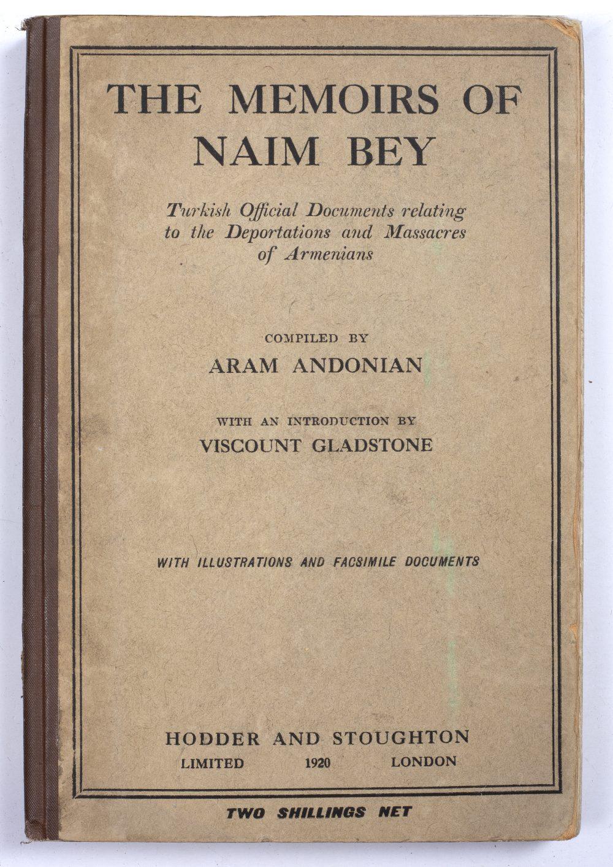 ANDONIAN, Aram (1875-1951) Armenian Historian and Journalist, compiler 'The Memoirs of Naim Bey'