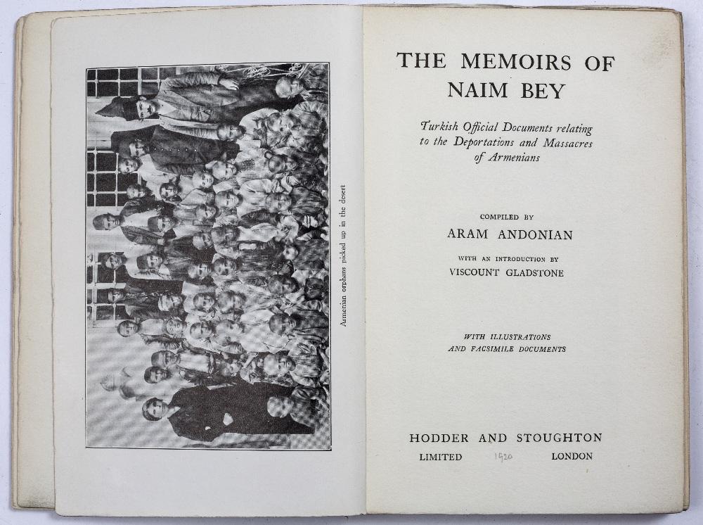 ANDONIAN, Aram (1875-1951) Armenian Historian and Journalist, compiler 'The Memoirs of Naim Bey' - Image 2 of 2