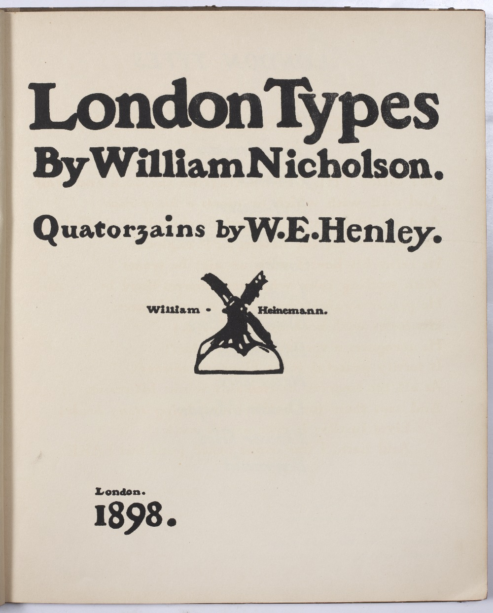 NICHOLSON, William, London Types. Quatorzains by W.E. Healey and An Almanac of Twelve Sports, - Image 3 of 5