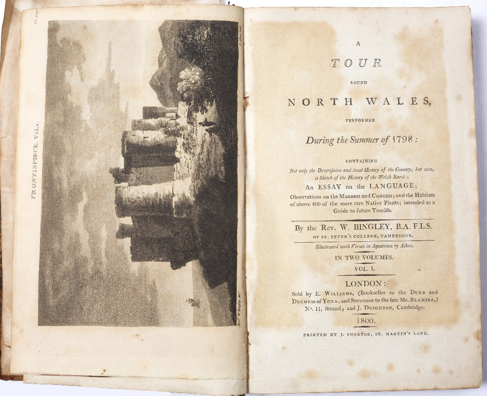BINGLEY, The Rev. W. 'A Tour Round North Wales Performed During the Summer of 1798'. 2 vols. 8vo. - Image 2 of 2