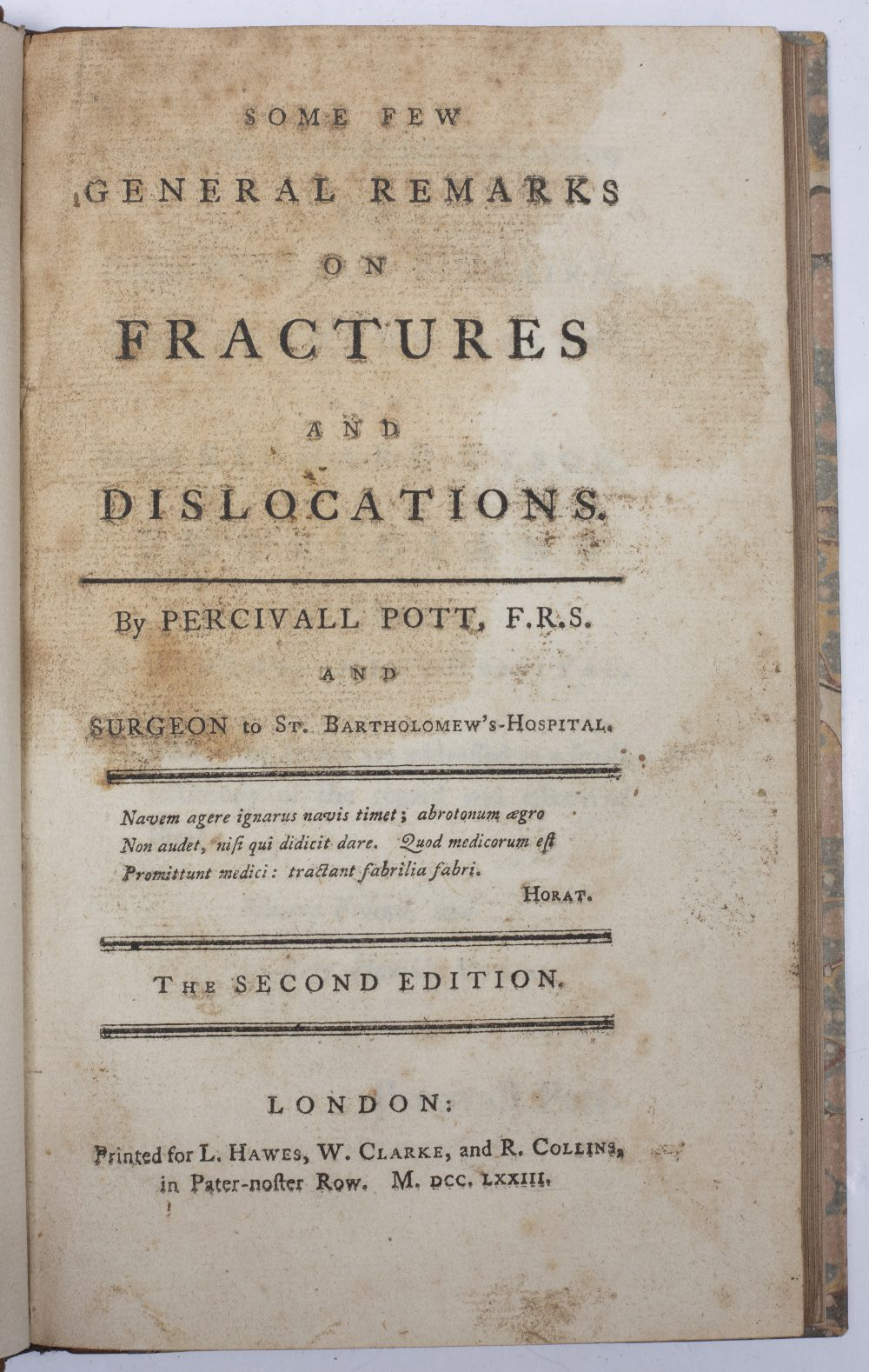 POTT, Percival, FRS and Surgeon at St. Bartholomew's Hospital. 'Some Few General Remarks on - Image 2 of 4