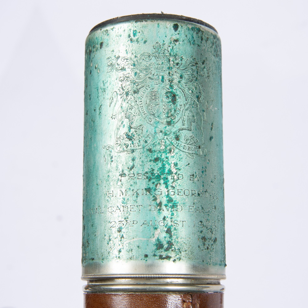 A LEATHER CASED MILITARY TELESCOPE, by W Ottway & Co. Ltd, 1943, No. 4672, 34.5cm - Image 3 of 3