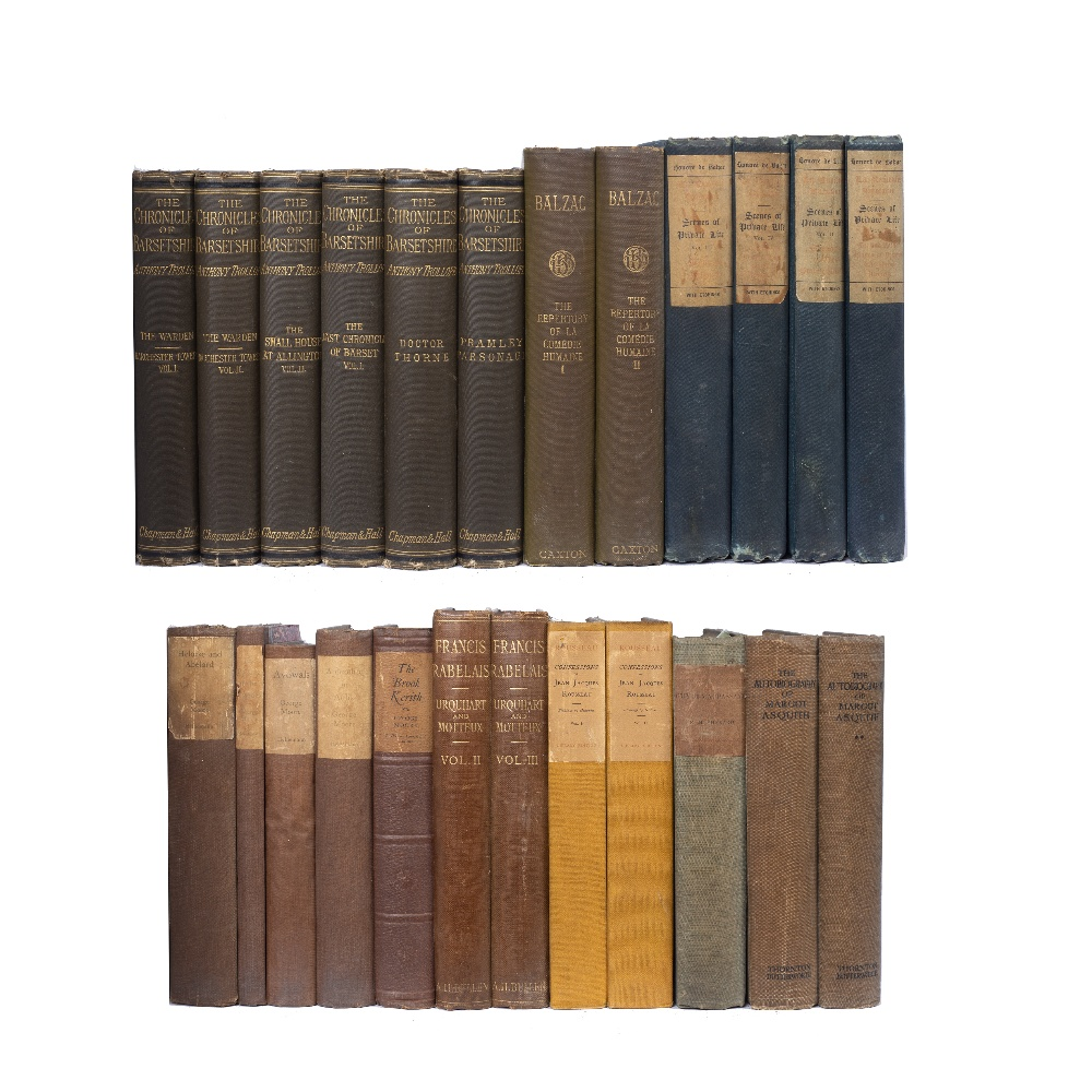 TROLLOPE, Anthony, The Warden and Barchester Towers, Chapman and Hall, London 1879. 2 vols. green