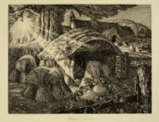 Robin Tanner (1904-1988) Martin's Hovel, 1927 8/50, signed and numbered in pencil etching 16.5 x