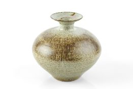 Waistel Cooper (1921-2003) Vase the body with incised lines and speckled glaze over ash ground