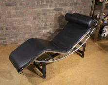 After Le Corbusier LC4 chaise chrome and leather 79cm high, 156cm long, 56cm wide. Provenance: Solar