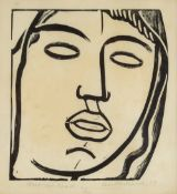 Leon Underwood (1890-1975) Mexican Head, 1929 3/50, signed, numbered, titled, and dated in pencil (