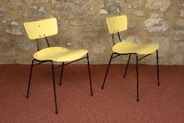 Ernest Race (1913-1964) for Race Furniture A pair of Roebuck chairs, designed in 1951 yellow painted