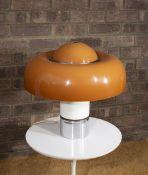 Luigi Massoni (1930-2013) for Harvey Guzzini Brumbury table lamp, circa 1970 orange acrylic shade