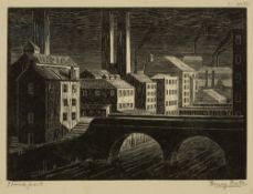Henry Edward Bates (act.1926-1939) Stockport, 1925 signed and titled in pencil (in the margin),