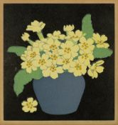 John Hall Thorpe (1874-1947) Primroses, 1922 signed in pencil (in the margin) woodcut 18 x 17cm.